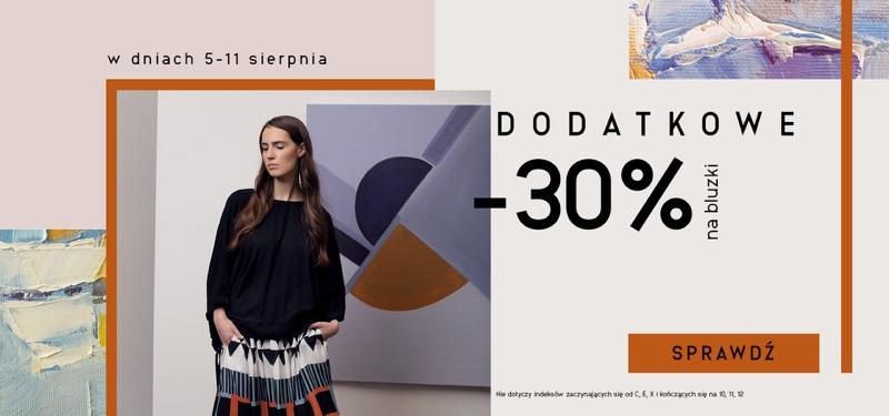 Bialcon: dodatkowe 30% zniżki na bluzki damskie