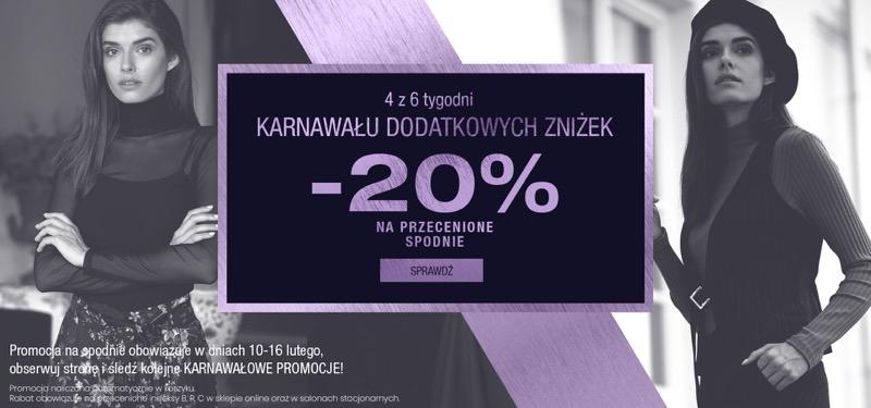 Bialcon: 20% rabatu na przecenione spodnie damskie                         title=