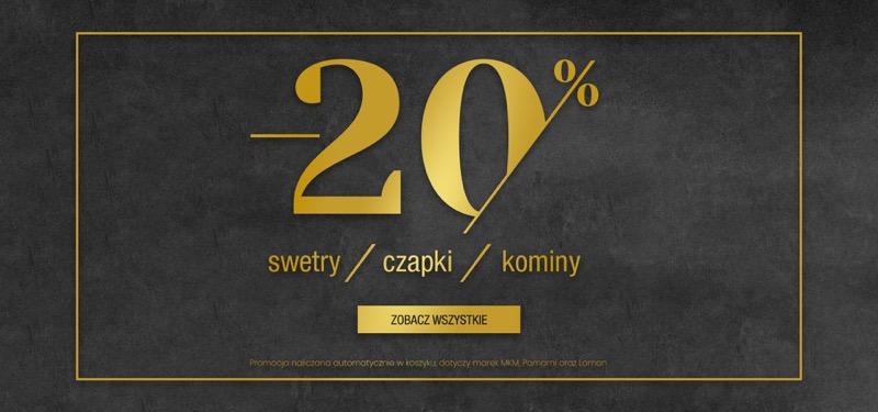 Bialcon: 20% rabatu na swetry, czapki, kominy damskie