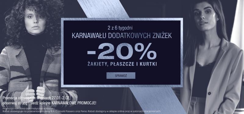 Bialcon: 20% rabatu na żakiety, płaszcze, kurtki damskie                         title=
