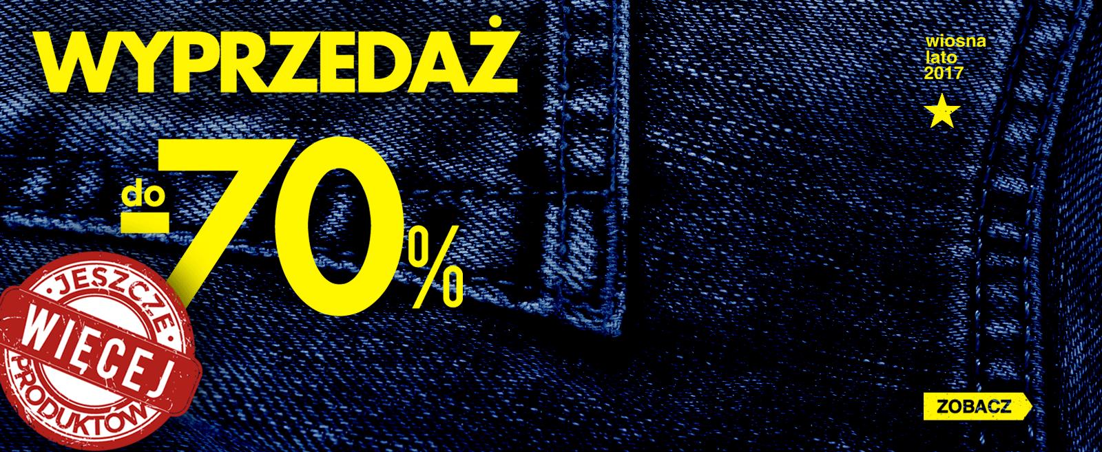 Big Star: wyprzedaż do 70% rabatu dżinsy, odzież i dodatki
