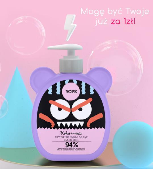 Biogo: kup dwa dowolne produkty marki Yope, a mydło dla dzieci kokos i mięta otrzymasz za 1 zł