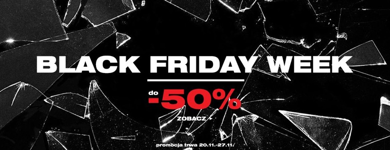 Black Friday Week Bludshop: do 50% zniżki na odzież i obuwie