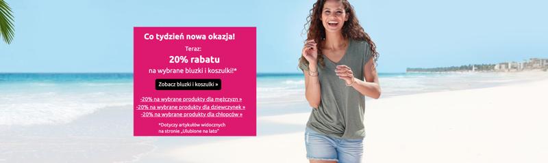 Bon Prix: 20% rabatu na wybrane damskie, męskie i dziecięce bluzki oraz koszulki