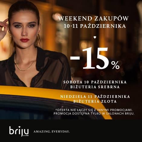 Briju: weekend zakupów i 15% zniżki