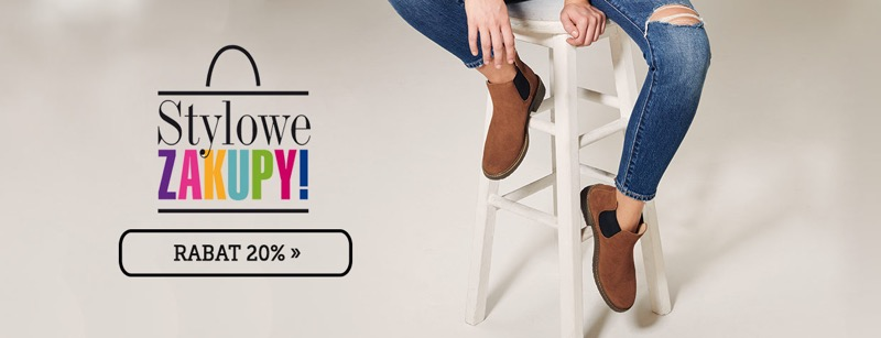 But Sklep: Stylowe Zakupy 20% rabatu na buty damskie, męskie i dziecięce