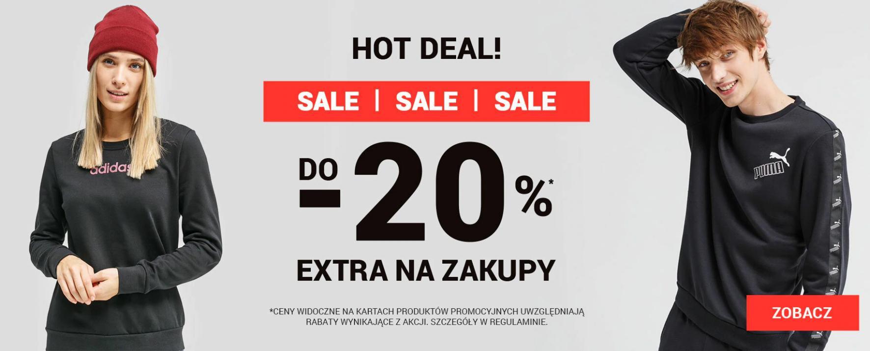 ButySportowe.pl: dodatkowe 20% rabatu na obuwie nieprzecenione oraz przecenione