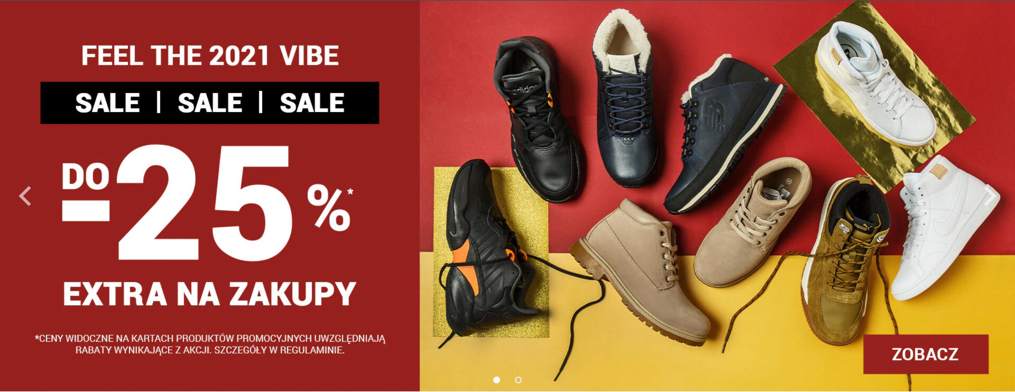 ButySportowe.pl: do 25% extra rabatu do wyprzedaży na znane marki, takie jak Adidas, Nike, Reebok, Puma, Fila, Vans