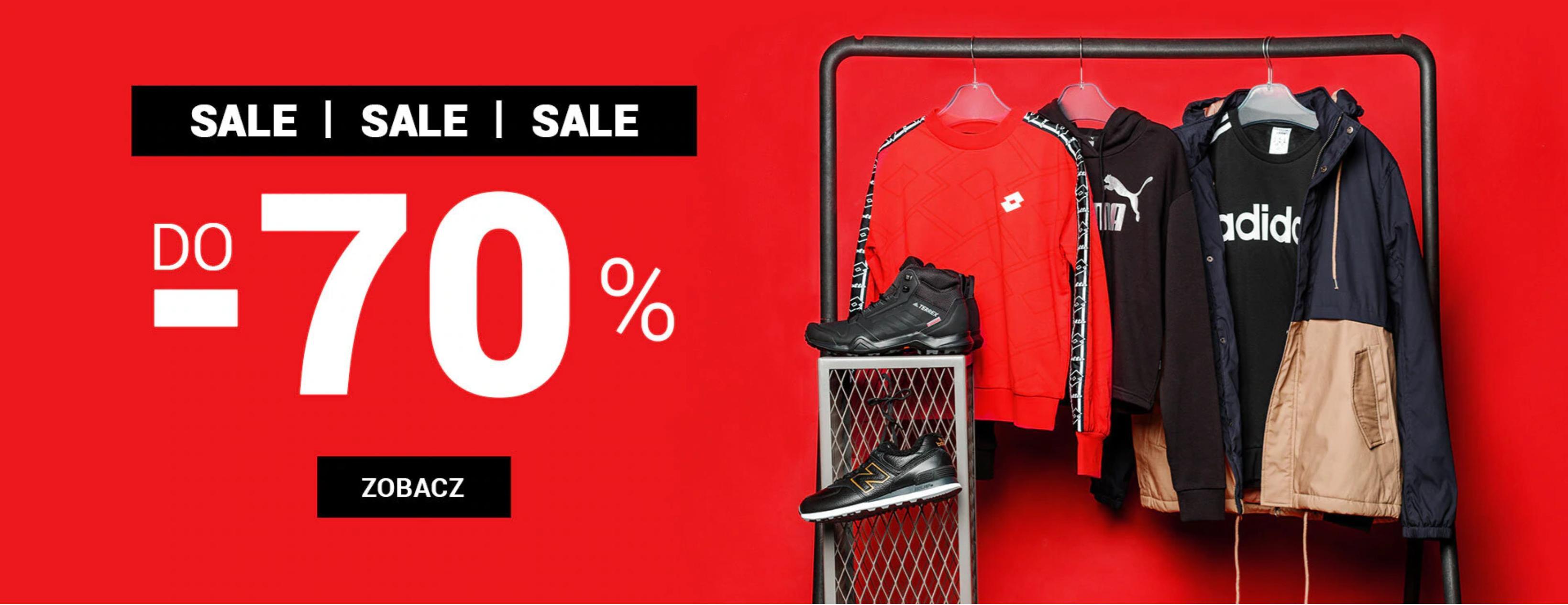 ButySportowe.pl: wyprzedaż do 70% zniżki na buty i odzież sportową