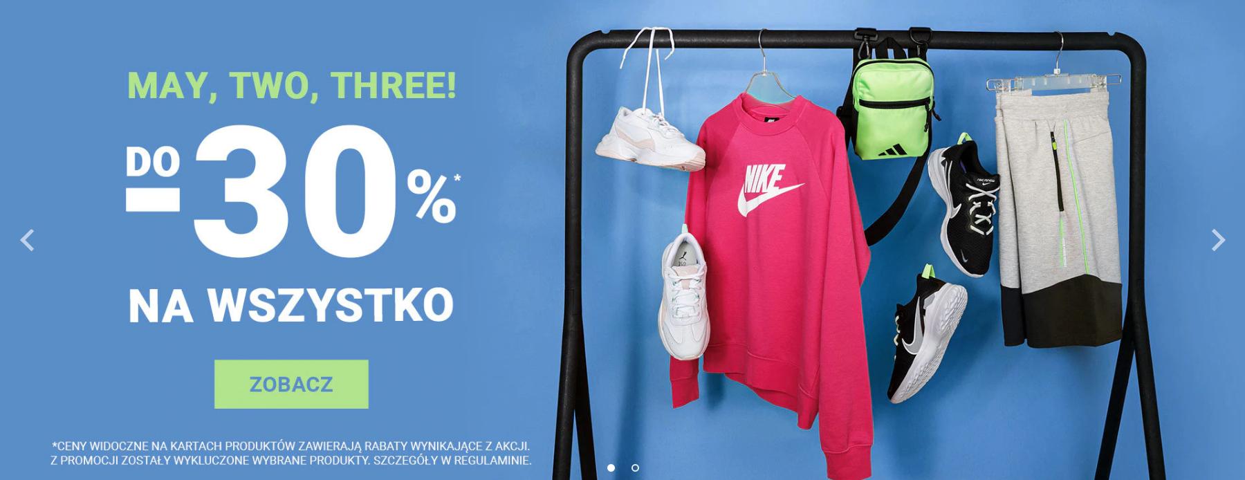 ButySportowe.pl: do 30% zniżki na sneakersy,odzież i akcesoria Adidas, Nike, Reebok, Puma, Vans, New Balance                         title=