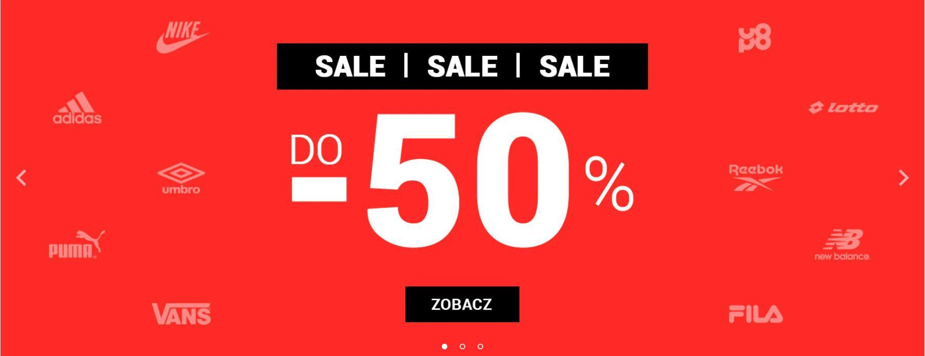 ButySportowe.pl: wyprzedaż do 50% rabatu na buty i odzież sportową