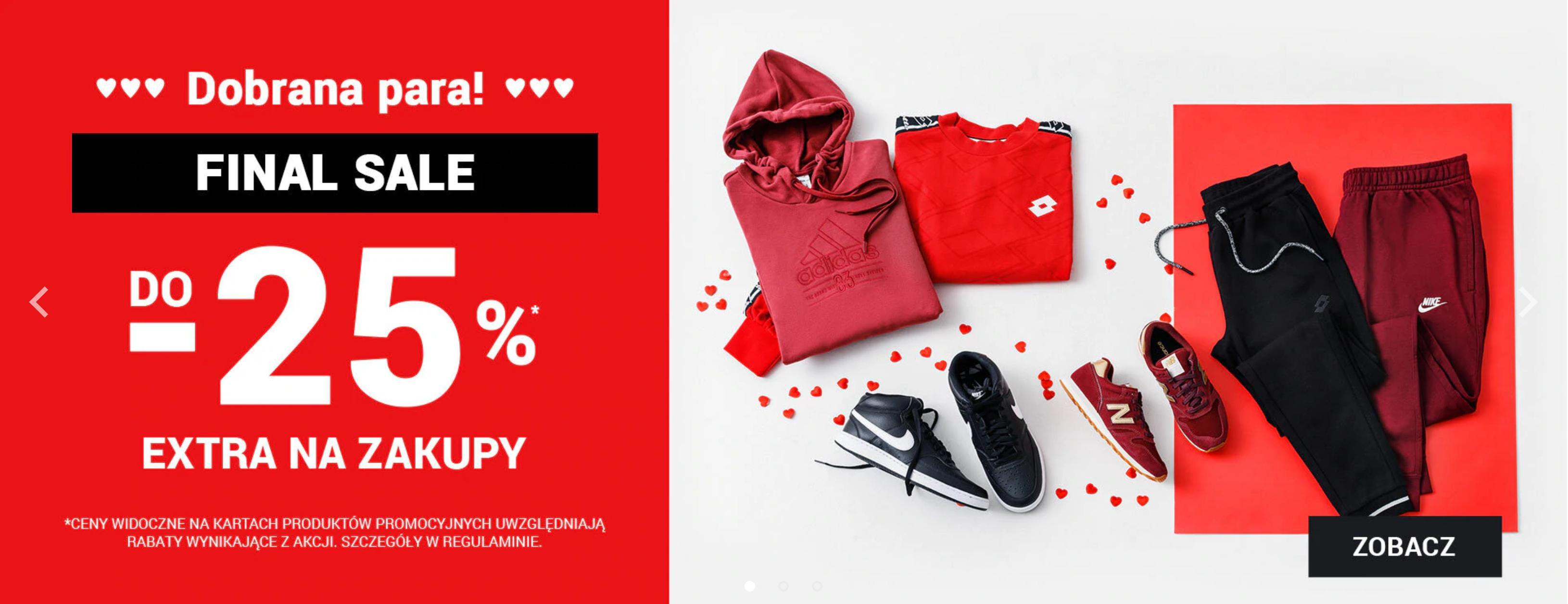 ButySportowe.pl: do 25% extra rabatu do wyprzedaży na buty i ubrania sportowe