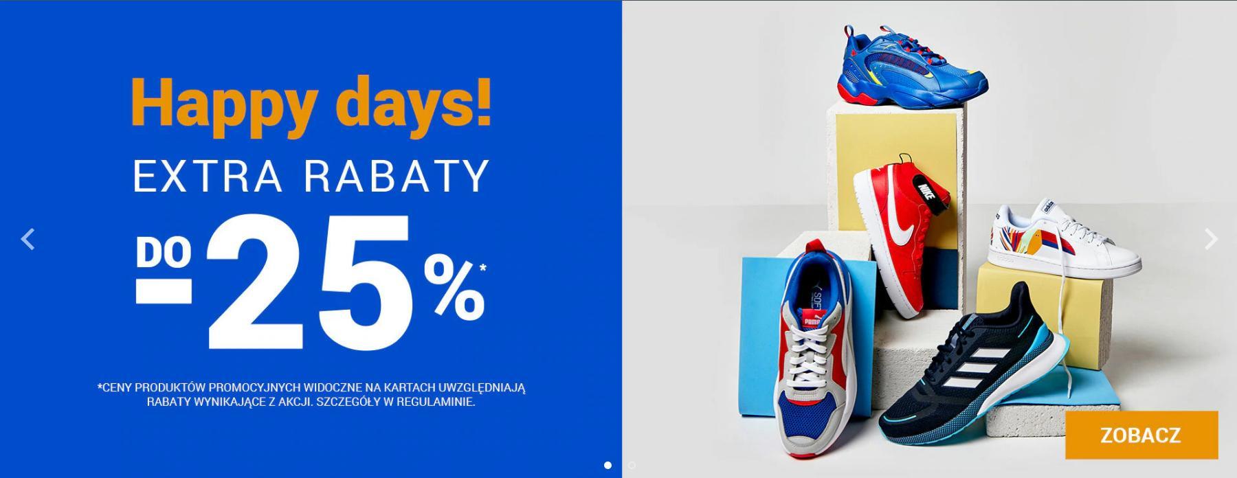 ButySportowe.pl: Happy Days do 25% rabatu na buty i ubrania sportowe