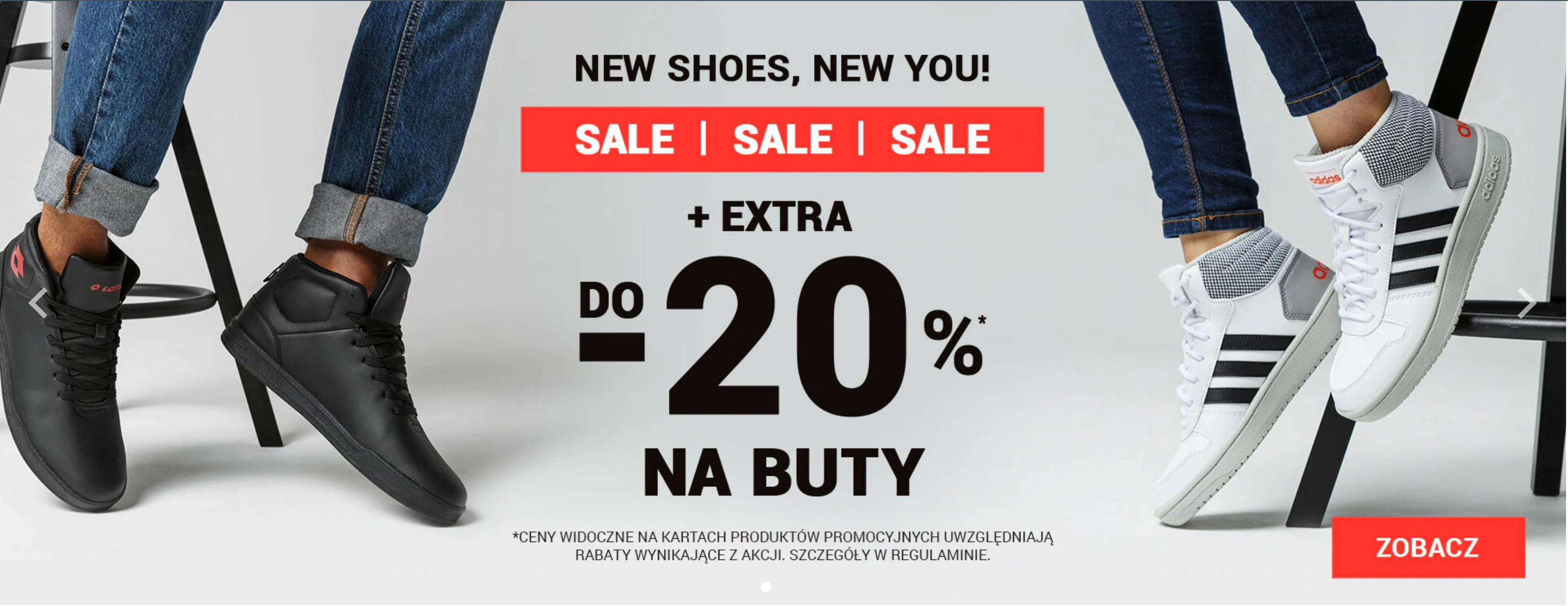 ButySportowe.pl: extra  do 20% zniżki na wyprzedaż butów sportowych