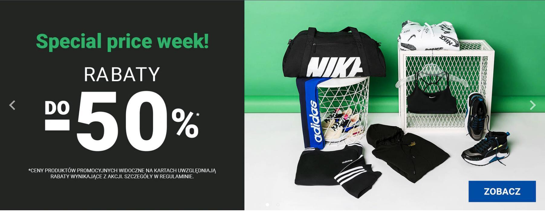 ButySportowe.pl: Special Price Week do 50% rabatu na buty i odzież sportową