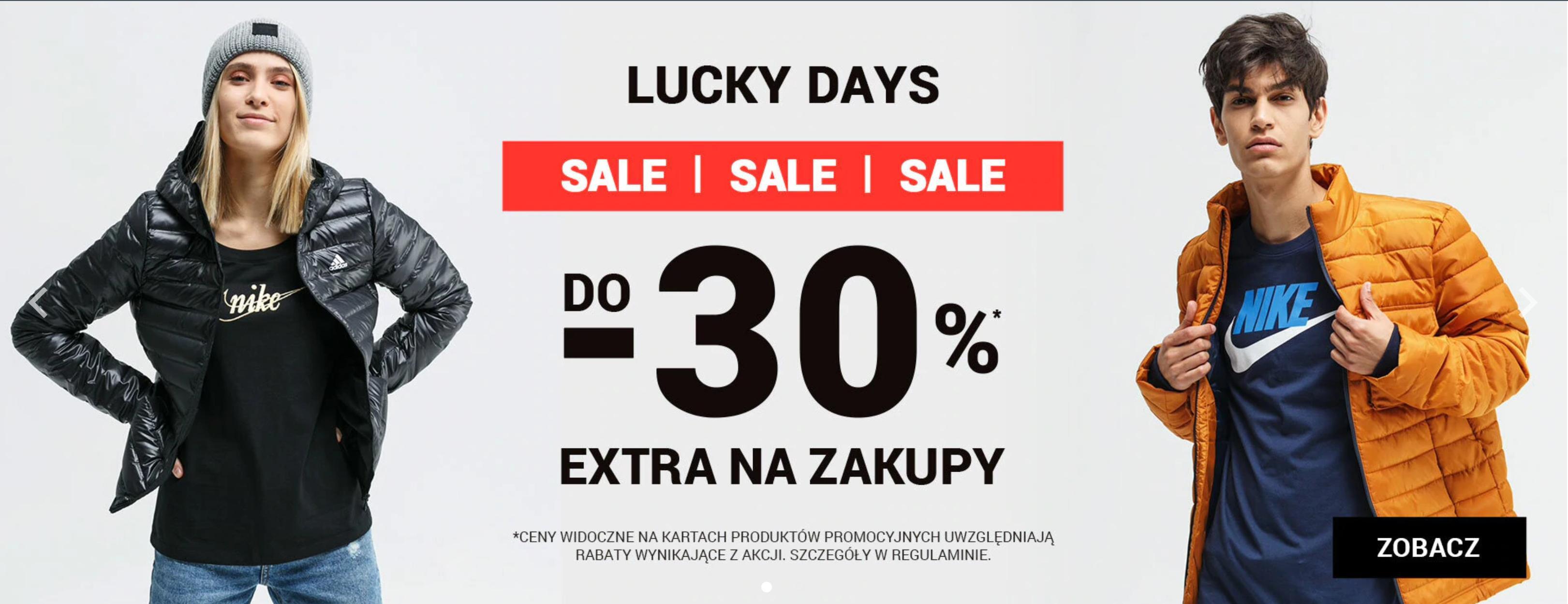 ButySportowe.pl: Lucky Days do 30% rabatu na buty i odzież sportową