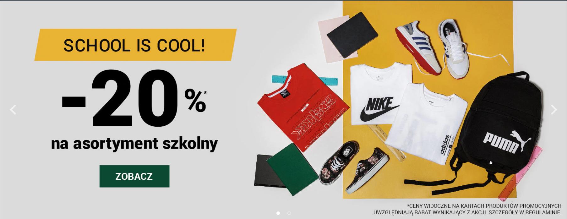 ButySportowe.pl: 20% zniżki na asortyment szkolny