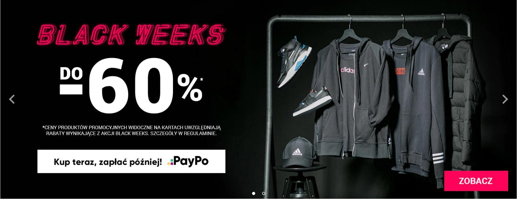 ButySportowe.pl: Black Weeks do 60% zniżki na buty i ubrania sportowe
