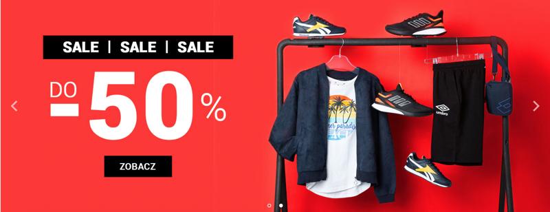 ButySportowe.pl: wyprzedaż do 50% zniżki na buty i odzież sportową