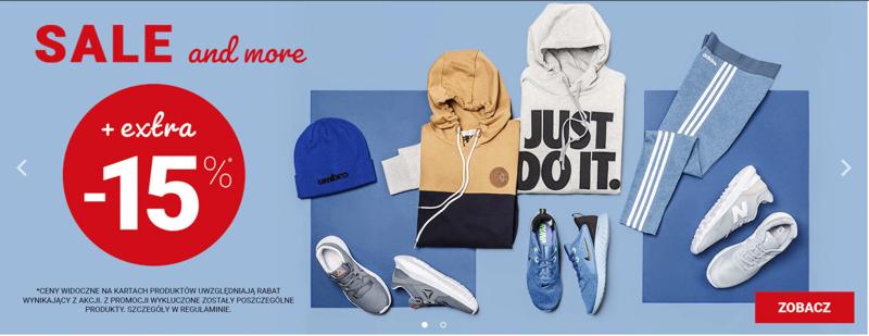 ButySportowe.pl ButySportowe.pl: dodatkowe 15% zniżki do wyprzedaży obuwia, odzieży i akcesoriów sportowych