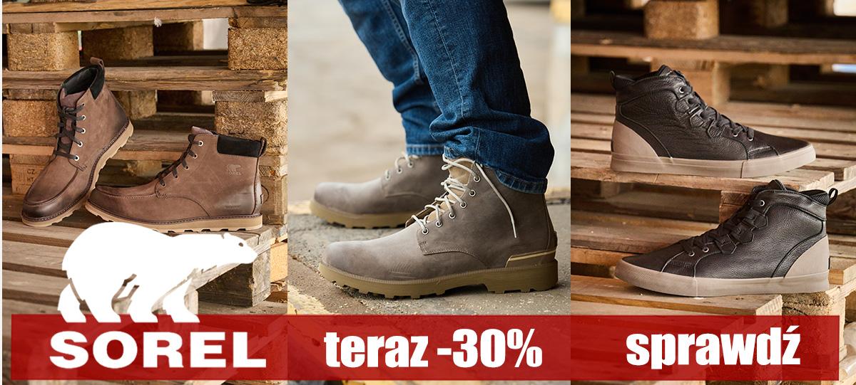 Buty XL: 30% rabatu na buty marki Sorel