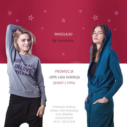 By Insomnia: promocja 20% na Mikołajki