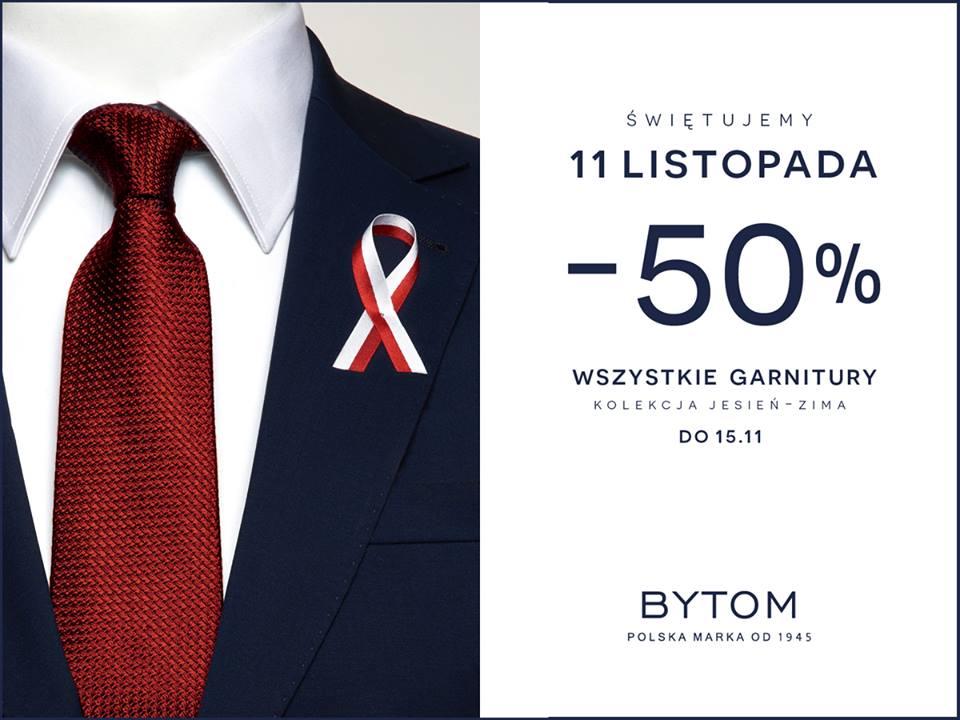 Bytom: 50% zniżki na garnitury z okazji 11 listopada