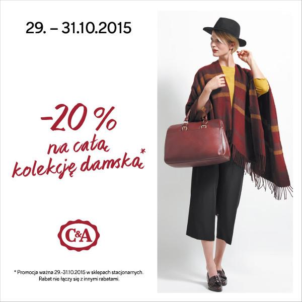 C&A: 20% na całą kolekcję damską