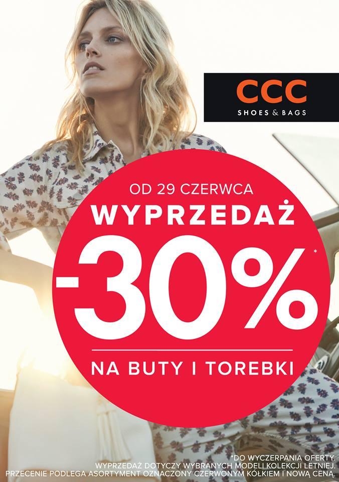 02ba92ab CCC: wyprzedaż 30% na buty i torebki