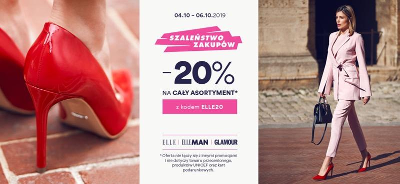 CCC: Szaleństwo Zakupów 20% rabatu na cały asortyment obuwia oraz toreb
