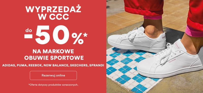 CCC: wyprzedaż do 50% zniżki na markowe obuwie sportowe