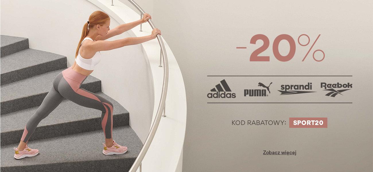 CCC: 20% zniżki na obuwie sportowe, odzież oraz akcesoria znanych marek m.in. adidas, Puma, sprandi, Reebok                         title=