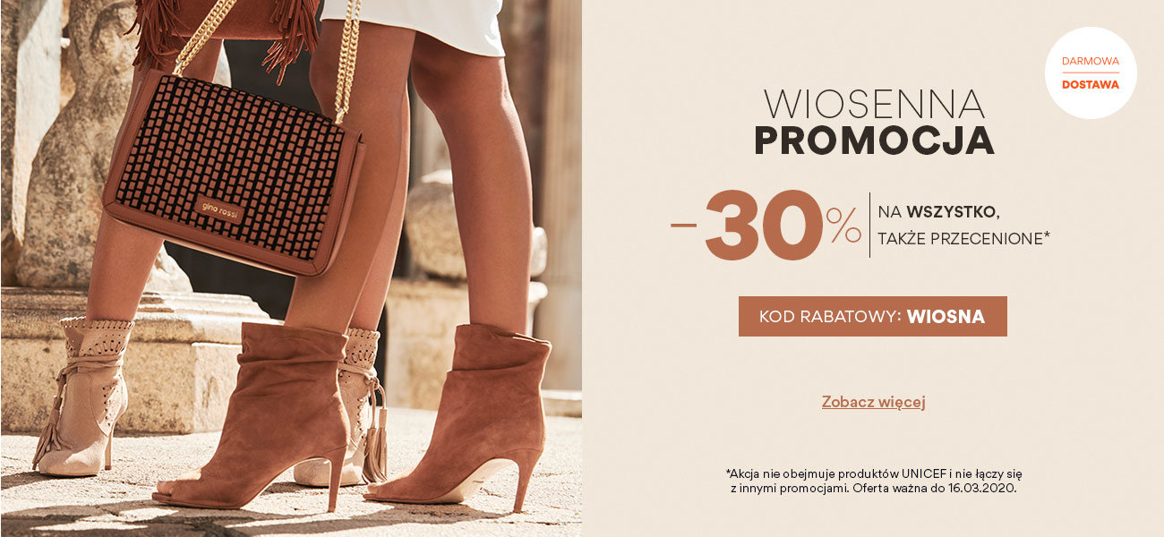 CCC: 30% zniżki na buty damskie, męskie i dziecięce, akcesoria i torebki                         title=