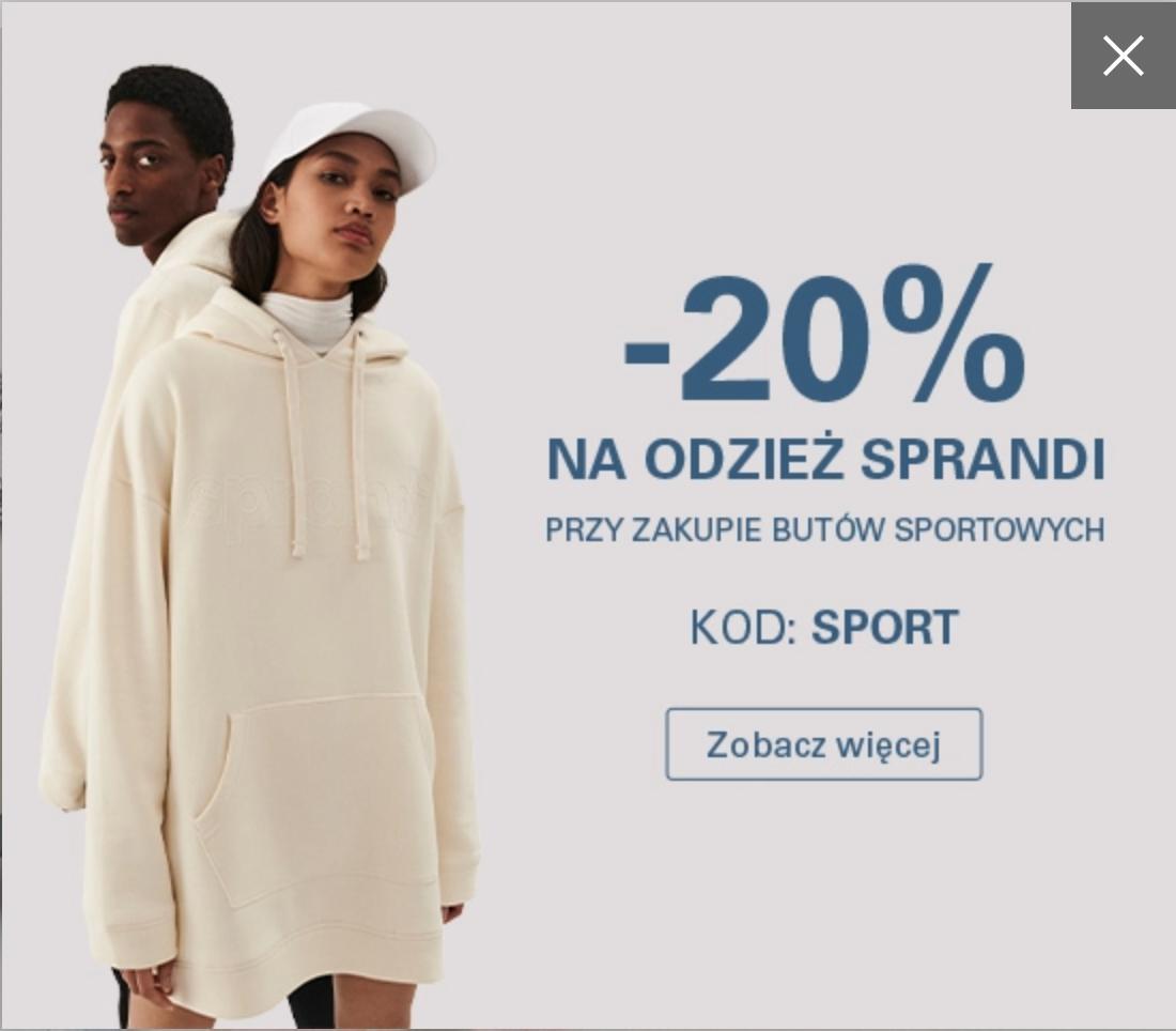 CCC: 20% rabatu na odzież marki Sprandi przy zakupie butów sportowych