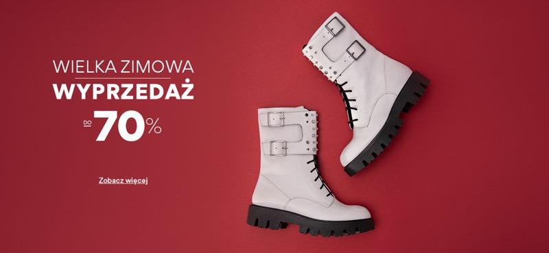 CCC: wielka zimowa wyprzedaż do 70% zniżki na buty damskie, męskie i dziecięce, akcesoria oraz torebki                         title=