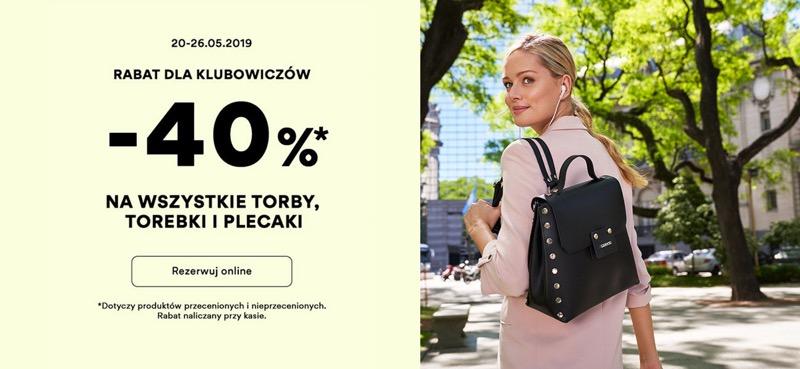 CCC: 40% rabatu na wszystkie torby, torebki, plecaki