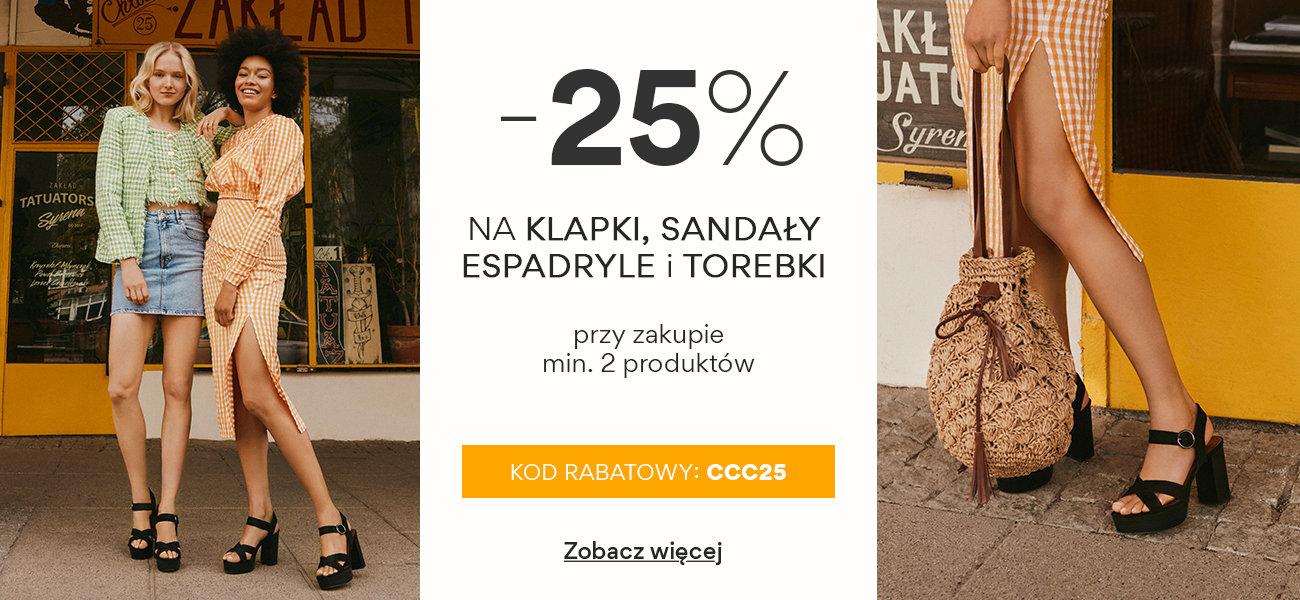 CCC: 25% rabatu na klapki, sandały, espadryle i torebki                         title=