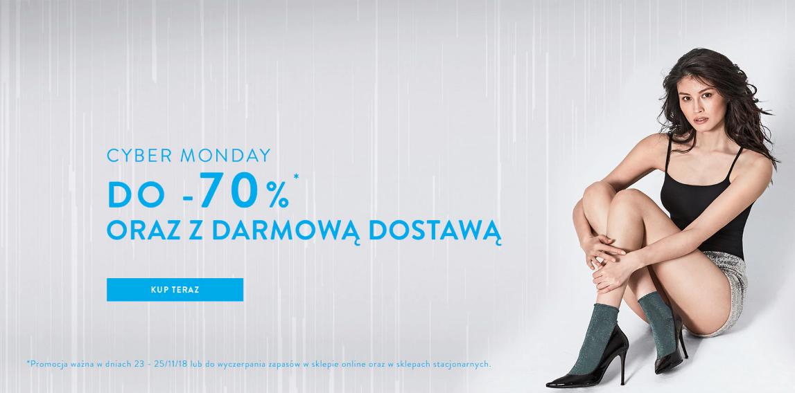 Cyber Monday Calzedonia: do 70% rabatu na skarpety, rajstopy, legginsy