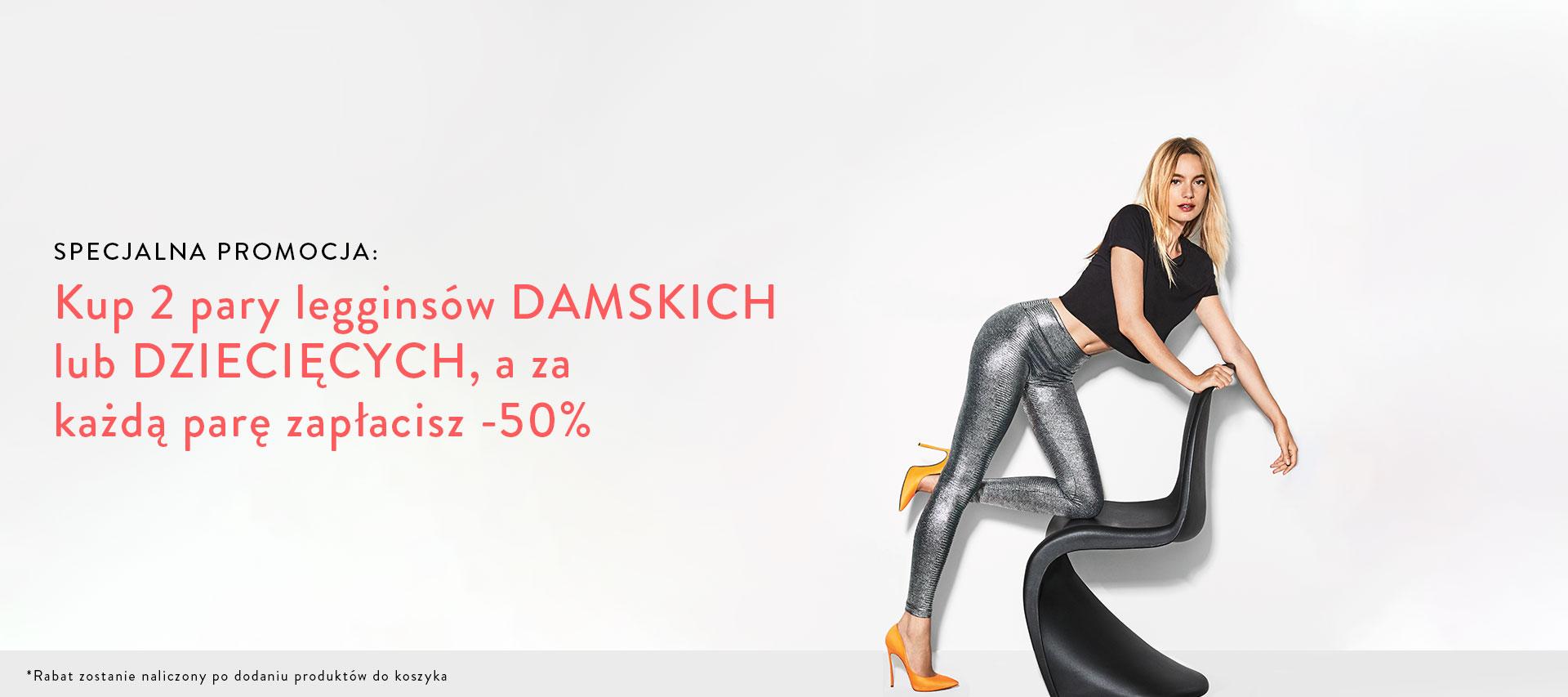 Calzedonia: 50% rabatu przy zakupie dwóch par legginsów damskich lub dziecięcych