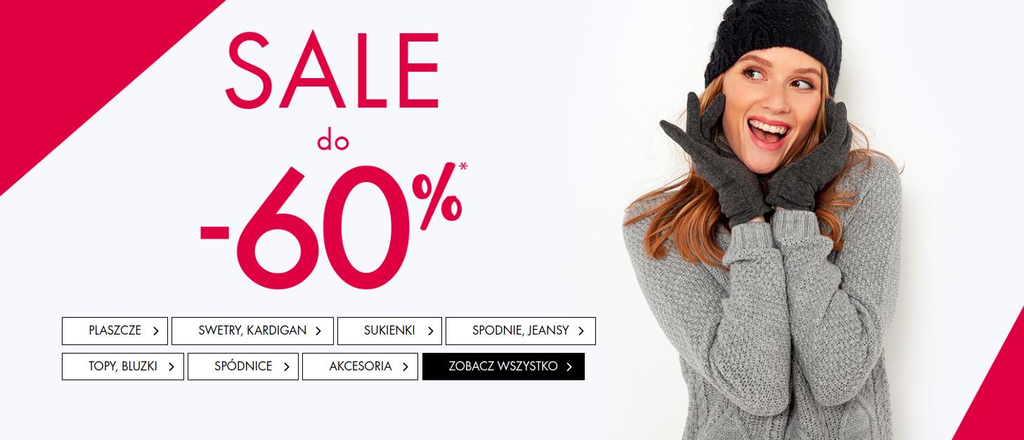 Camaïeu: wyprzedaż do 60% rabatu na odzież damską m.in. płaszcze, swetry, sukienki, spodnie, topy