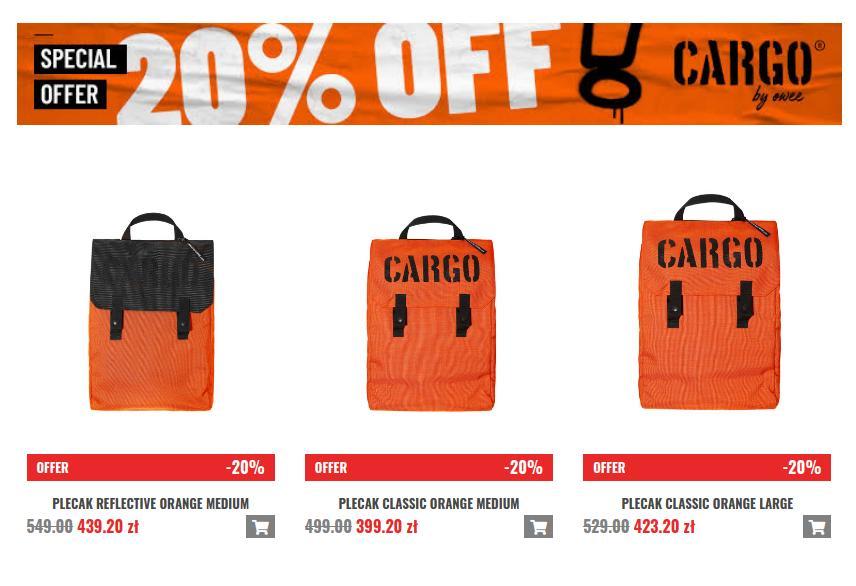 Cargo by Owee: 20% rabatu na pojemne nerki