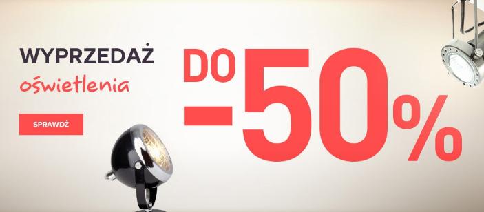 Castorama: wyprzedaż do 50% zniżki na oświetlenie                         title=