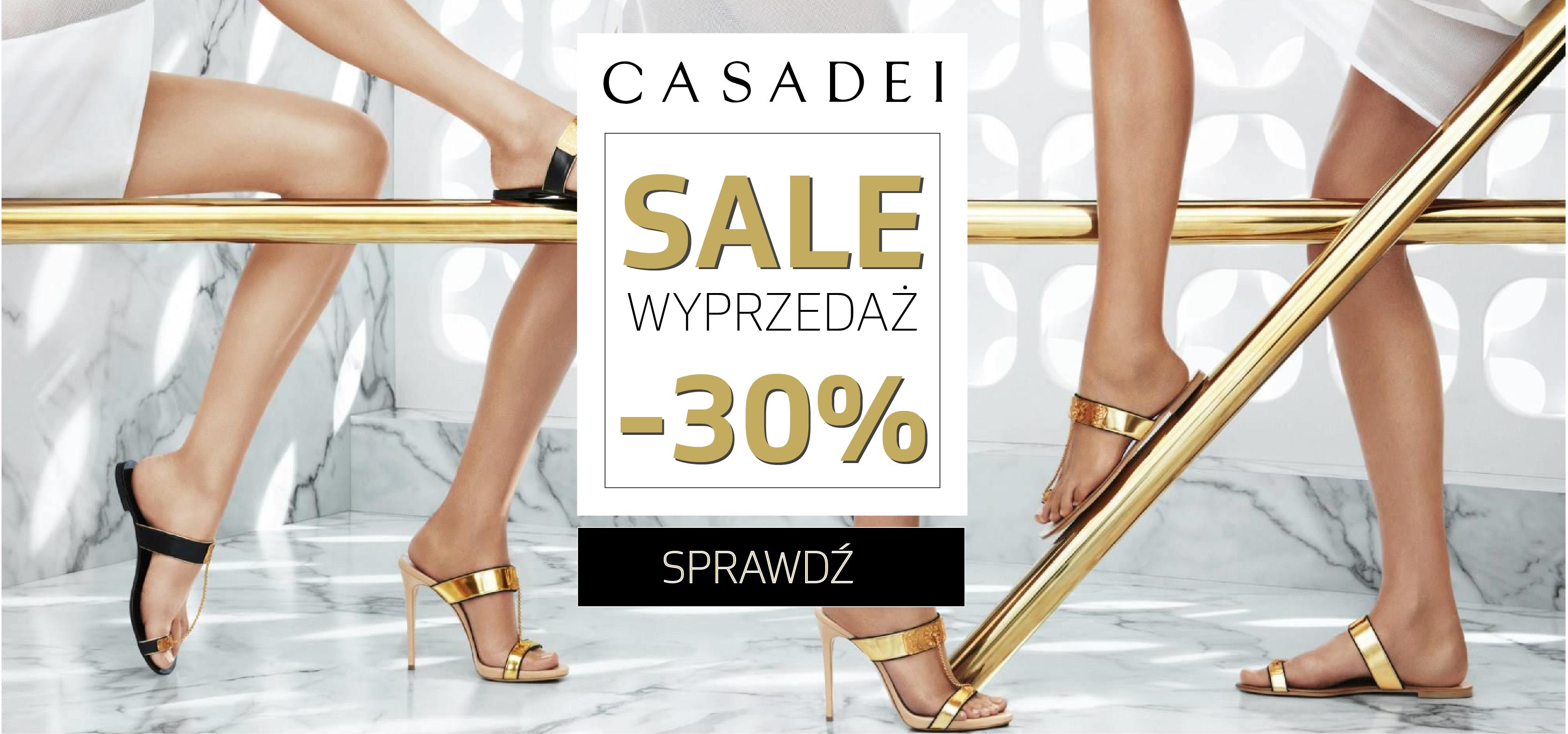 Catwalk: wyprzedaż 30% rabatu na buty marki Casadei                         title=