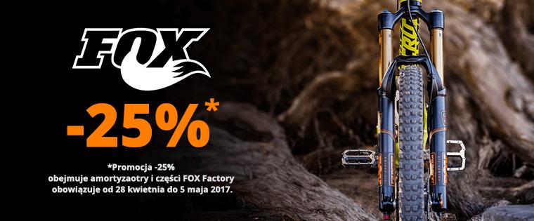 Centrum Rowerowe: 25% zniżki na amortyzatory oraz części do rowerów marki Fox Factory