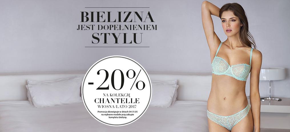 Chantelle: 20% zniżki na kolekcję Chantelle Wiosna-Lato 2017