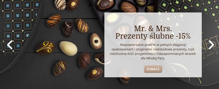 Chocolissimo: 15% zniżki na słodkie prezenty ślubne                         title=