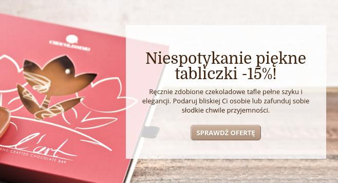Chocolissimo: 15% zniżki na ręcznie zdobione tabliczki czekolady