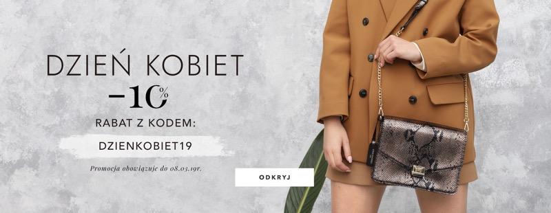 Cholewiński: promocja na Dzień Kobiet 10% rabatu na galanterię skórzaną