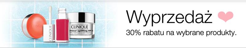 Clinique: wyprzedaż 30% rabatu na wybrane kosmetyki                         title=