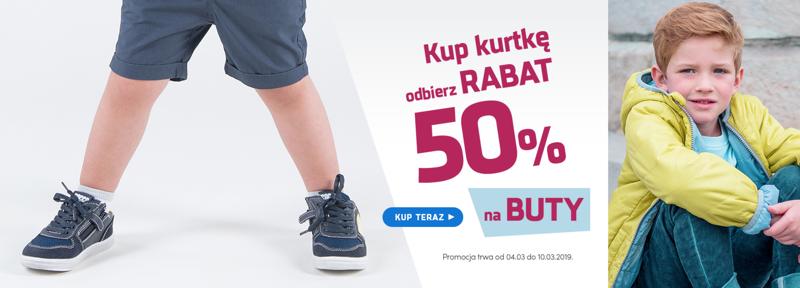 Coccodrillo: przy zakupie kurtki, 50% rabatu na buty                         title=